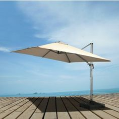 Check out the VIG Furniture Renava Eclipse Modern Patio Umbrella in Grey/Begie with Base Pool Garden, Pergola Garden, Pergola Shade, Pergola Kits, Pergola Ideas, Patio Ideas, White Pergola, Backyard, Patio Umbrella Stand