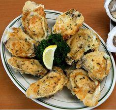Parmesan Garlic Oysters! YUM!