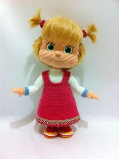 Best 12 Ludmila Zhdanova will crochet this doll to order for you. Time of the work – weeks This is Masha – handmade crochet doll. Crocheted of yarn cotton, polyacry Crochet Doll Pattern, Crochet Patterns Amigurumi, Amigurumi Doll, Crochet Dolls, Masha Doll, Crochet Basics, Soft Dolls, Diy Doll, Cute Crochet