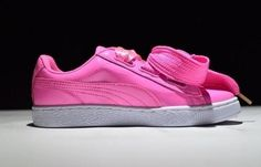 Puma Womens Basket Heart Patent Casual Shoes Pink - Puma Shoes