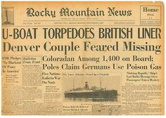 ATHENIA SUNK BY NAZI U-BOAT Outbreak WW2  September 4 1939 3003106WQ B10