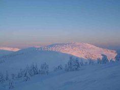 Pyhätunturi in the winter in Lapland.  OLYMPUS DIGITAL CAMERA