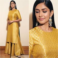 Hrithik Roshan And Mrunal Thakur Go On A Promotional Spree Of In Style – HungryBoo Source by dresses indian Gharara Designs, Kurta Designs Women, Kurti Designs Party Wear, Indian Gowns Dresses, Indian Fashion Dresses, Dress Indian Style, India Fashion, Stylish Dress Designs, Designs For Dresses