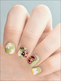 Spring nails - Way beyond me, but so cool