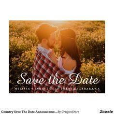 Country Save The Date Announcement