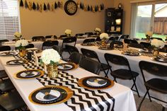 Black and Gold Baby Shower