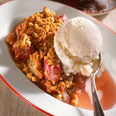 Honey-Rhubarb Crumble Recipe