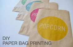 DIY Paper Bag Printing - great for personalizing treats for your kiddos.