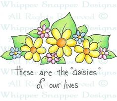 Daisies of Our Lives - Whimsical - Floral/Garden - Rubber Stamps - Shop