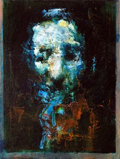 """""""Blue Man"""" by Jean-Luc Almond; Oil, 2013, Painting"""