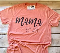Custom Mother's Gift, Personalized Mom Shirt, Mom T-shirt, Mother's T-shirt, New Mom, Expecting Mom, Mother's Day, Gift For Her, Ladies Tee by CutFromTheHeart on Etsy