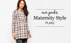 Plaid Maternity Styles - Project Nursery