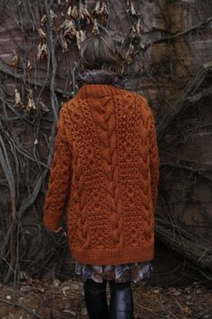 9 dec 12 [Fox coloured chunky knit]