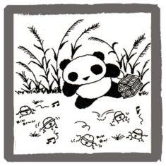 アンアン・ミニコミで連載していたパンダの絵  <byパンツ屋エディ>  1977年9月20日号掲載