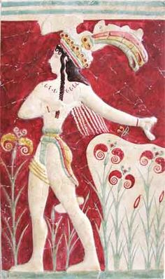 "Minoan Fresco Tile ""The Prince with Lillies"". between 1700 and 1400 BCE. Ancient Art, Ancient History, Art History, Knossos Palace, Minoan Art, Bronze Age Civilization, Mediterranean Art, Mosaic Tile Art, Mycenaean"