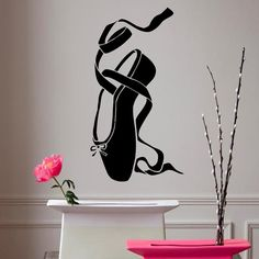 Wall Decals Pointes Ballet Shoe Girl Dance by DecalMyHappyShop, $16.99