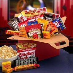 Movie buffs and couch potatoes alike will delight in our Movie Night Movie Care Package. They can just press play and enjoy their way into a relaxing evening of fun and delicious treats! This all-star