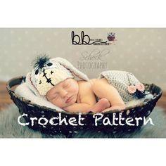 Eeyore Set - Newborn to 6 month - crochet made to order