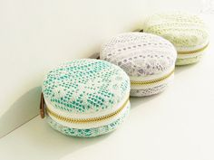 Jewellery Box/ large macaron coin purse/Romantic by qiqikoko, $16.00