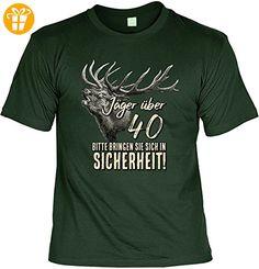 Lustiges Geburtstagsgeschenk Leiberl für Männer T-Shirt mit Urkunde Jäger über 40 Bitte bringen Sie sich in Sicherheit! Leibal zum Geburtstag (*Partner-Link)