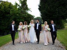 #Gwendolynne patience #Wedding #tuxedo #bellinghamcastle #weddingparty #bridesmaids #groomsmen #white #blush #black #flowers #wedding #clairebaker #juliecumminsphotography