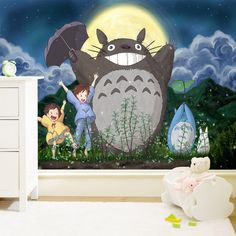 Mural real child bedroom wall wallpaper totoro US $119.11