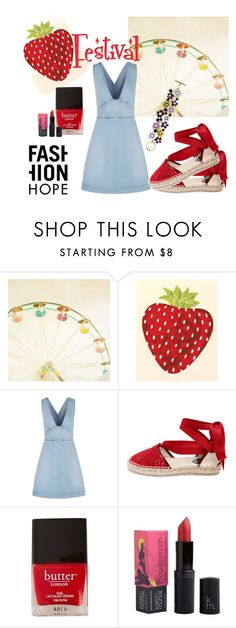 """""""Strawberry Festival"""" by linearfilm ❤ liked on Polyvore featuring STELLA McCARTNEY, Oscar de la Renta, Butter London and Karen Murrell"""