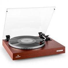 Belt-powered turntable with an S-shaped tone arm and lift as well as auto-start function. Compact, Retro Record Player, Toned Arms, Consumer Electronics, Retro Vintage, Music Instruments, Vinyl Turntable, Ebay