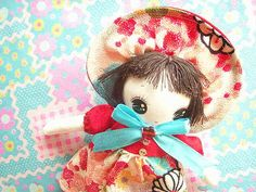 Kawaii Handmade Japan Bunka Doll Japanese Fabric Art Doll Craft Sewing Cute Floral Chirimen Cloth   Flickr - Photo Sharing!