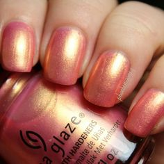 China Glaze -Moment in the Sunset from the Spring Fling collection for Spring 2017.   See my live application review of the whole collection up on my channel, link in profile #chinaglaze #springfling #liveapplication #review #swatches #nailpolish #manicure #phoebemoon14chinaglaze @chinaglazeofficial