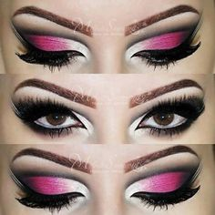 Pink and White Arabic Inspired Cut Crease by Melissa Samways
