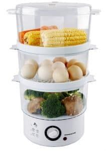 Ovente 3 Tier Electric Steamer for Vegetables and Food with Timer 7 5 Specialty Appliances, Kitchen Appliances, Kitchen Gadgets, Kitchen Utensils, Electric Food Steamer, Steam Recipes, Oven Recipes, Steamed Vegetables, Different Recipes