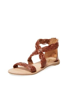 Seychelles Scorpio Flat Braided Leather Sandal