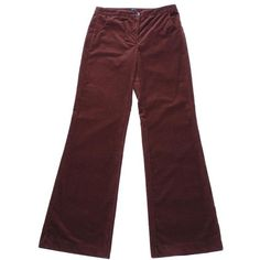 JOSEPH Flower wide corduroy trousers ($54) ❤ liked on Polyvore