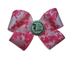 """""""My Daddy Is In The Army"""" Pink Digi Camo Hair Bow. Precious."""