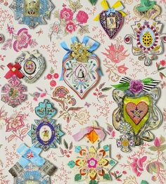 Cocarde Opiat wallpaper by Christian Lacroix