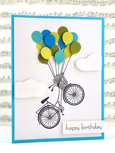 Bicycle + balloons= fantasy birthday!