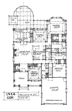 conceptual design 1324 first floor plan -- before feedback, entry closet becomes powder room after feedback