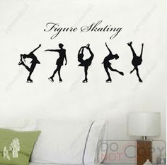 Figure skating decals for my skating room!