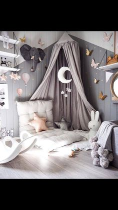 Girl room - 10 Ways to Design a Modern Baby Nursery Baby Bedroom, Baby Room Decor, Nursery Room, Girls Bedroom, Bedroom Decor, Nursery Ideas, Wall Decor, Bedroom Lighting, Girl Nursery