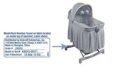 SAFETY RECALL    KOLCRAFT® BASSINET