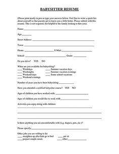 Resume For Babysitter Babysitter Resume Is Going To Help Anyone - Resume for babysitter