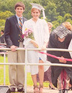 Logan Lerman and Emma Watson on the set of The Perks of Being a Wallflower