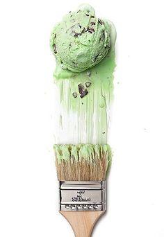 painting mint icecream