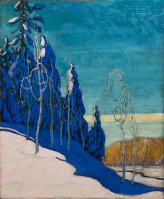 A Clear Winter: Arthur Lismer's crisply Canadian landscape, Canadian Group of Seven Tom Thomson, Winter Landscape, Landscape Art, Landscape Paintings, Canadian Painters, Canadian Artists, Clear Winter, Winter Light, Inspiration Artistique