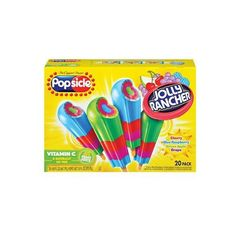 Popsicle Jolly Rancher Ice Pops 20-ct. ($3.89) ❤ liked on Polyvore featuring food, food and drink and filler