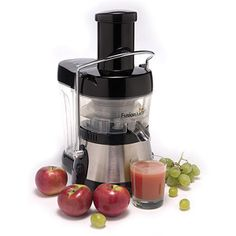 ❤️I chose this one and i am really liking it!  We did lots of research before we went with the Fusion Juicer.  Please note its just a juicer so no ice, liquids etc.. But man is it quiet (perfect for moms with babies)