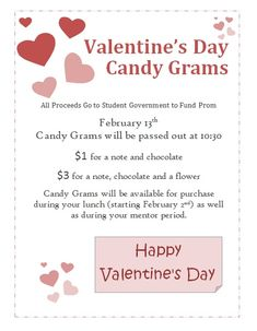 I used these as cards to send with my candy grams for the students ...