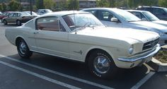 '65 Mustang Fastback - The first car I had to drive was this...white with turquoise interior...loved that car!