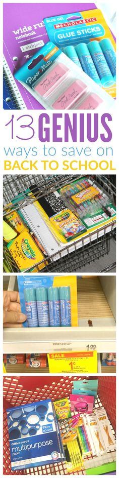 genius ways to save on back to school! school supplies and back to school ideas to save the most money!